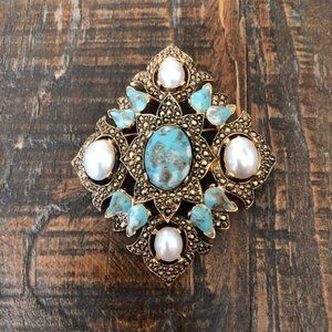 Sarah Coventry Vintage Brooch and Pendant